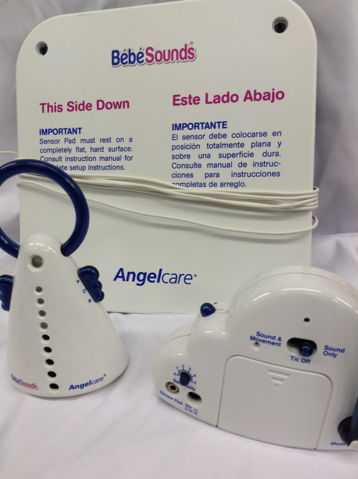 Bebe Sounds Angelcare Ac201 Movement Sound Monitor Pad Bundle 2h