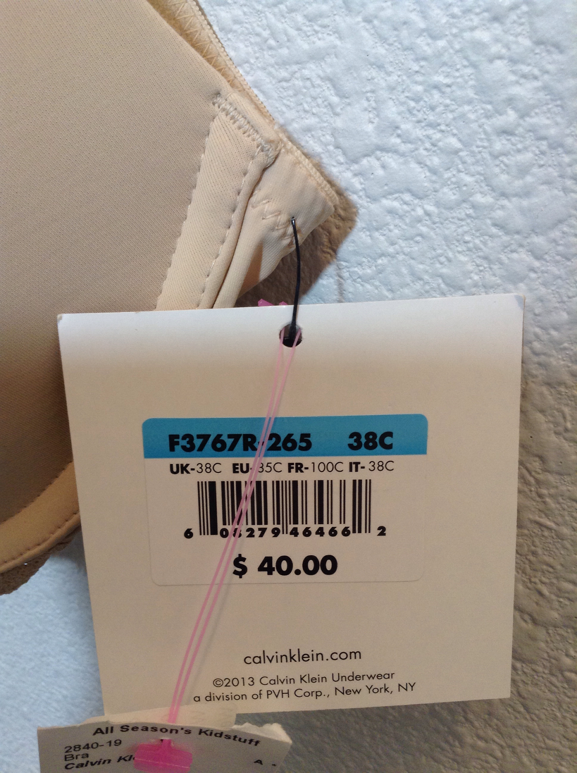 05210fcde8 Calvin Klein push up bra Size 38C Bra nude new with tag 4G