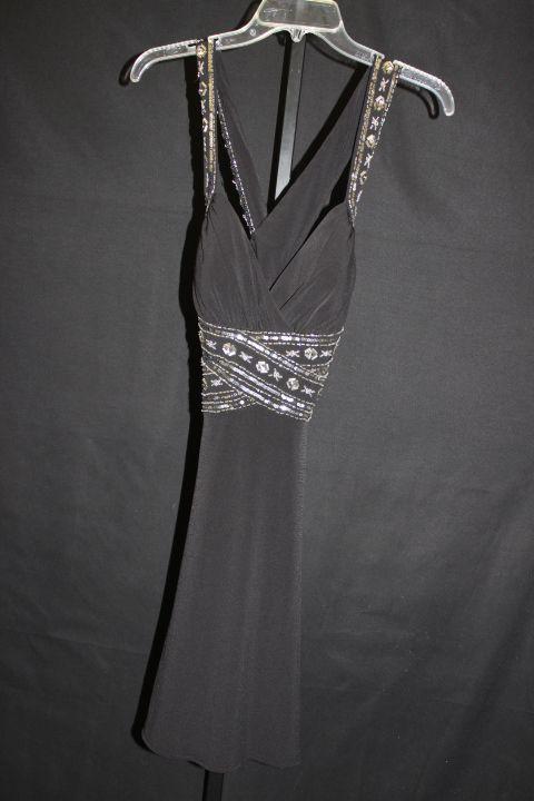 Hailey Logan Black w/ Sequins MED Formal womens girls prom black ...