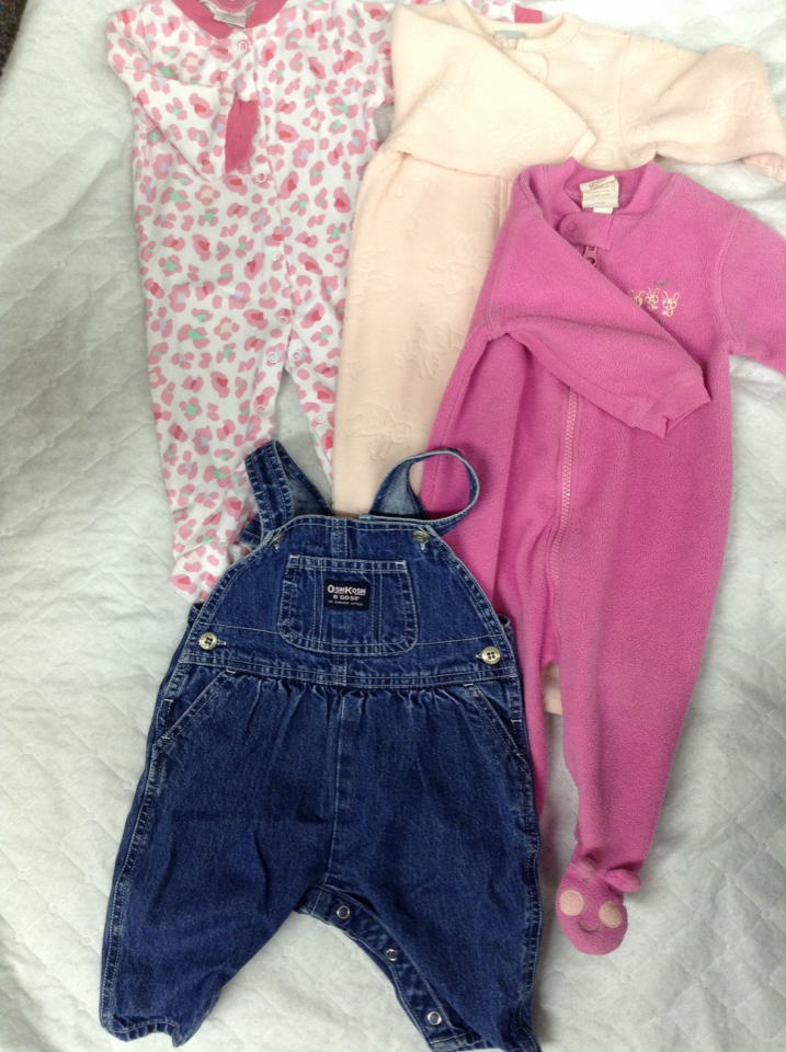 LOT3C 3 6m baby girls outfit pants shirt osh gosh 3 6