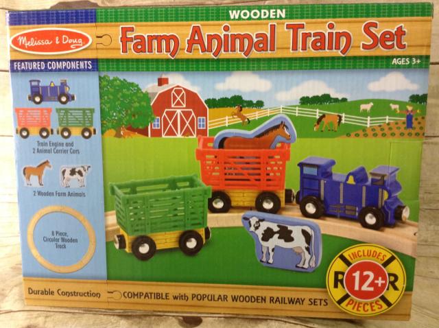 Animal Train Set : Melissa doug farm animal train set yrs up all