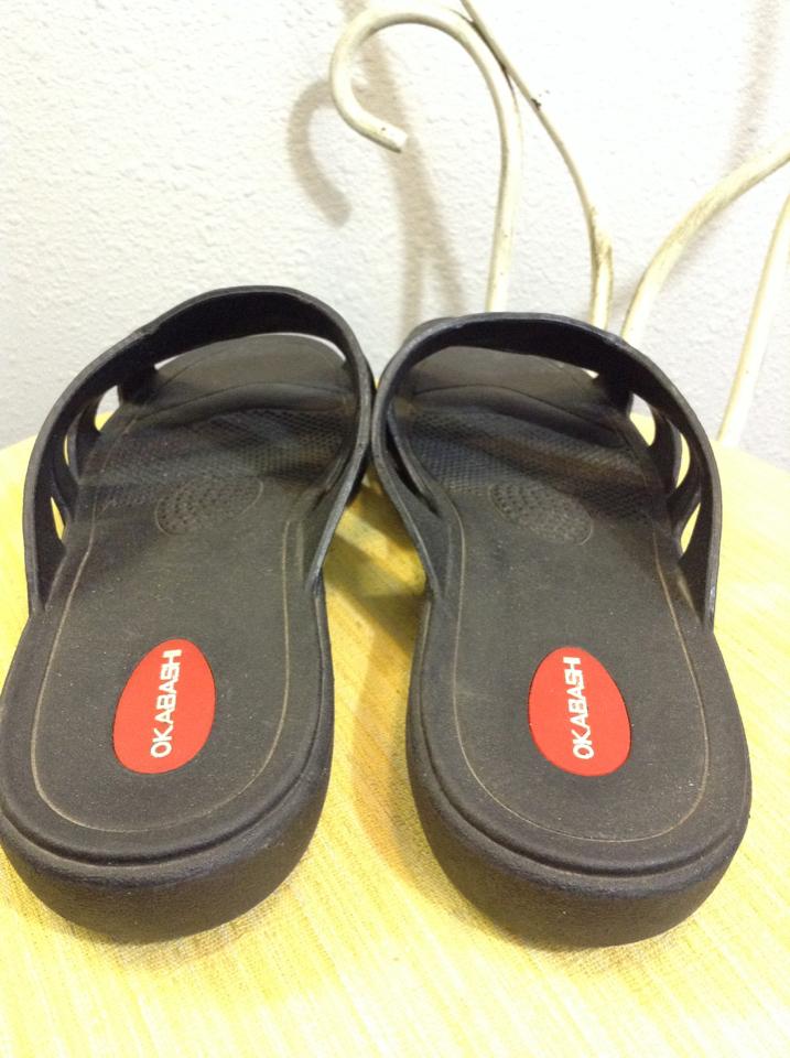 e72a8e7cc24ada Okabashi Cross Strap Sandals for Women recycled large black11F