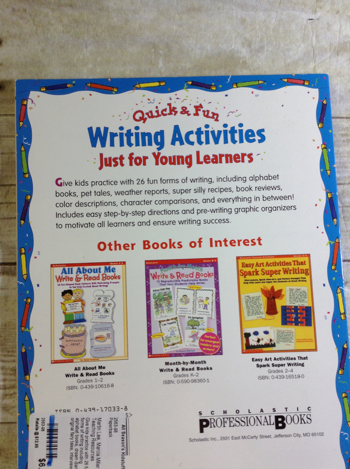 Quick-n-Fun Writing Activities Just for Young Learners: Easy Writing  Lessons B2