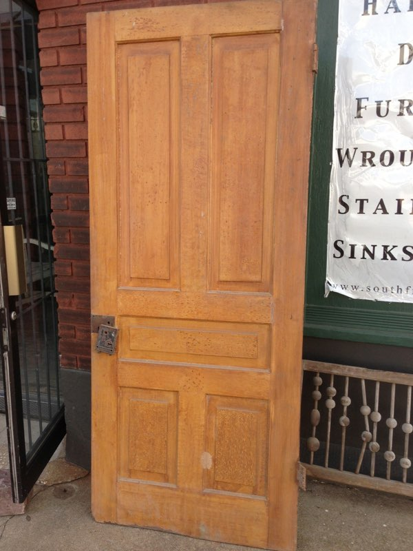 Special-5-panel_4472A.jpg & Special 5-panel faux grain door | South Front Antiques Pezcame.Com