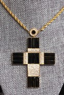 AKKAD-Large-Goldtone-Black--Clear-Rhinestone-CROSS-Pendant-Necklace_33422A.jpg
