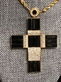 AKKAD-Large-Goldtone-Black--Clear-Rhinestone-CROSS-Pendant-Necklace_33422B.jpg