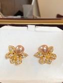 Nolan-Miller-Goldtone-Pink-Pearl-Rhinestone-FLOWER-Clip-Back-Earrings_34542A.jpg