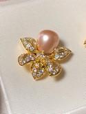 Nolan-Miller-Goldtone-Pink-Pearl-Rhinestone-FLOWER-Clip-Back-Earrings_34542B.jpg