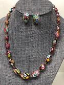 Vintage-Venetian-Murano-Millefiori-Art-Glass-Bead-Necklace---Earrings-SET_32759B.jpg