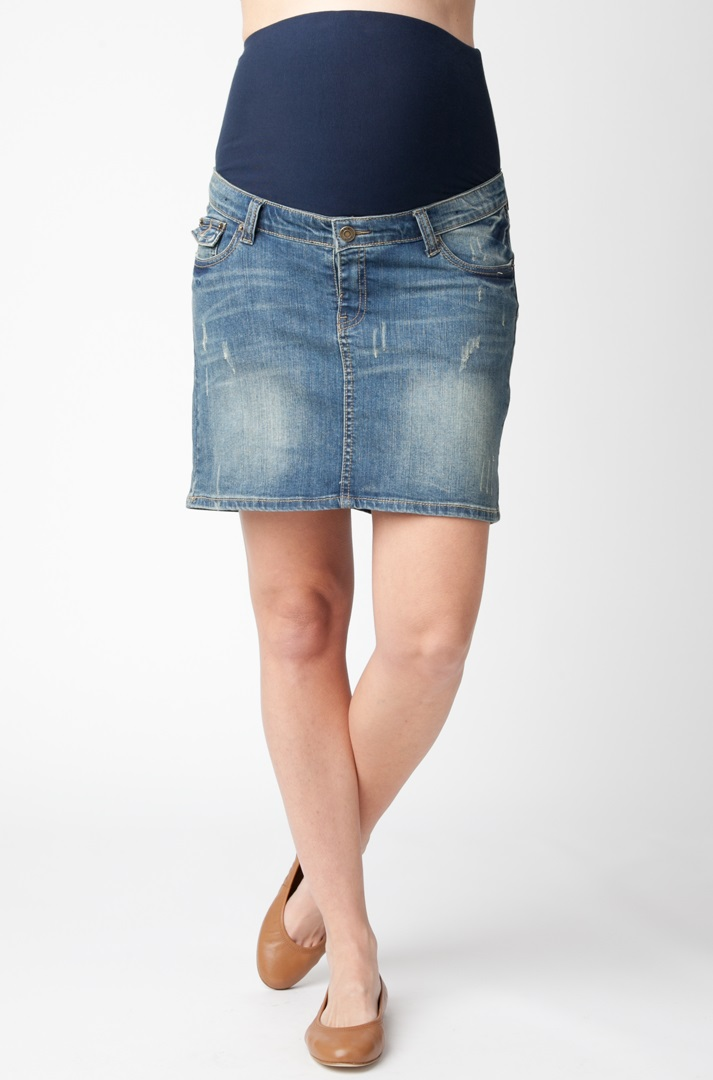 Ripe Denim Skirt | Bellies in Bloom Maternity