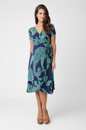 Ripe Paisley Wrap Dress