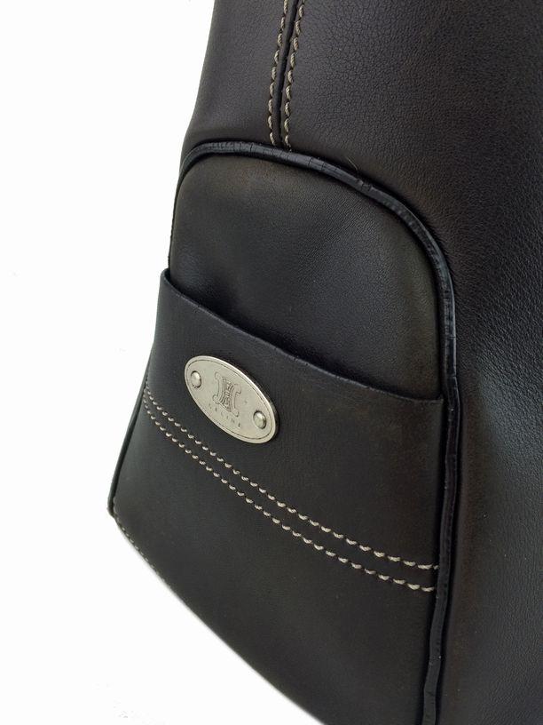 Celine Leather Boogie Bag Satchel Brown | Consigned Designs ...