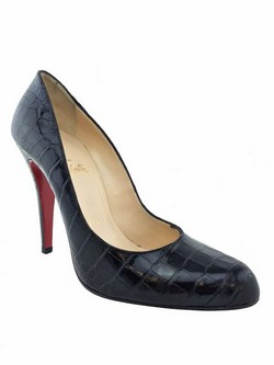 louboutin black crocodile