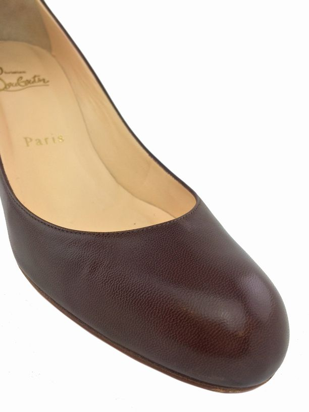 mens red bottom tennis shoes - christian louboutin brown leather heels simple pump