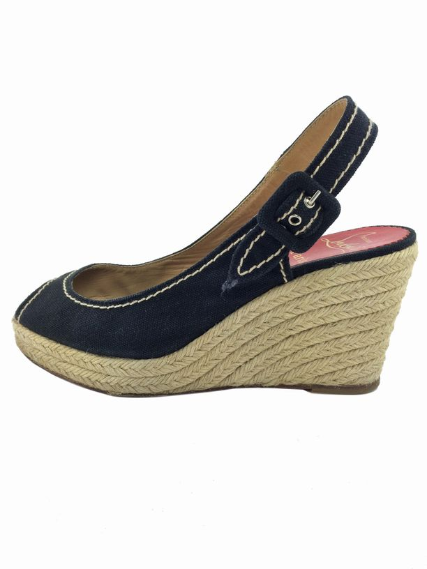 Consigned Designs | Christian Louboutin Shoes | Black Canvas ...