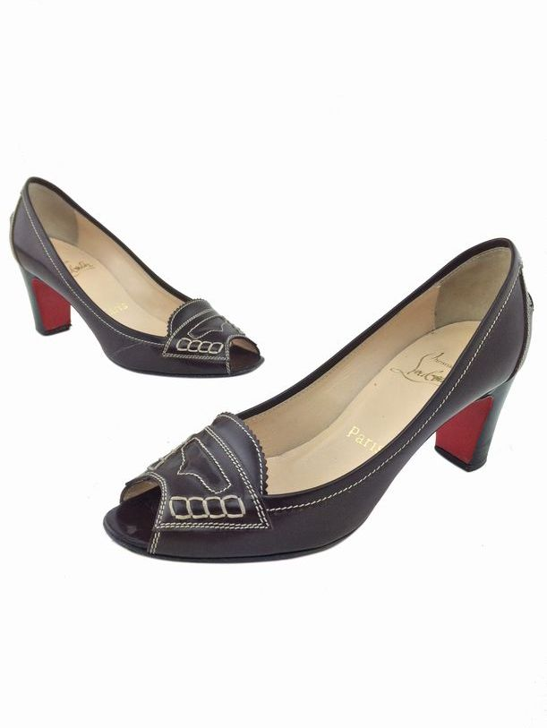 christian louboutin round-toe loafers Brown leather | The Filipino ...