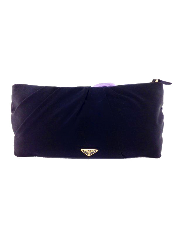 c40d6750d176 ... best new prada satin raso rosette clutch bag black consigned designs .  63a16 7c5ff