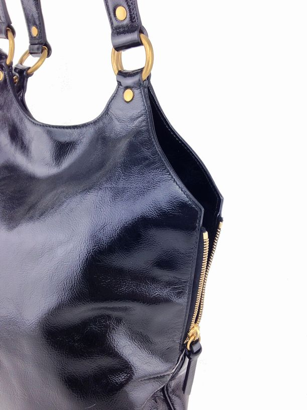 yves saint laurent bags online - Yves Saint Laurent Patent Leather Large Tribute Bag Black ...