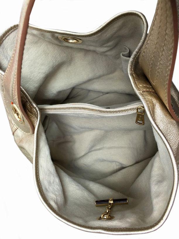 yves saint laurent faux - ysl capri bucket bag