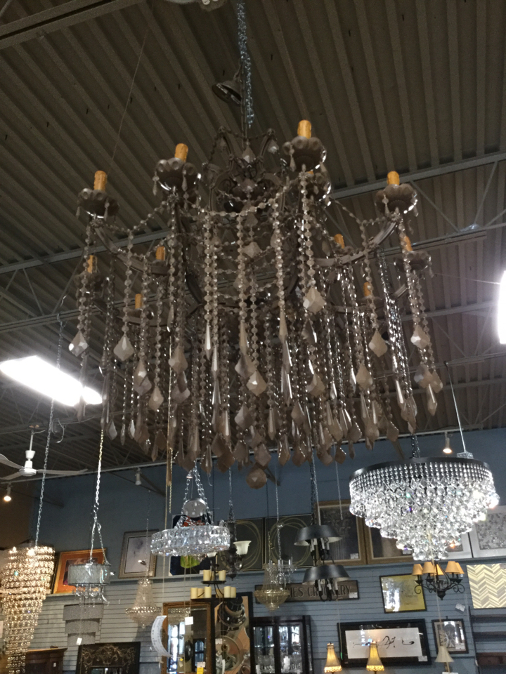 Brown-Metal--Glass-2-Tiered-Chandelier-wBrown--Crystals---37W-x-48T_101004A.jpg