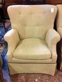Chair/ curve back upholstered armchair/ gold