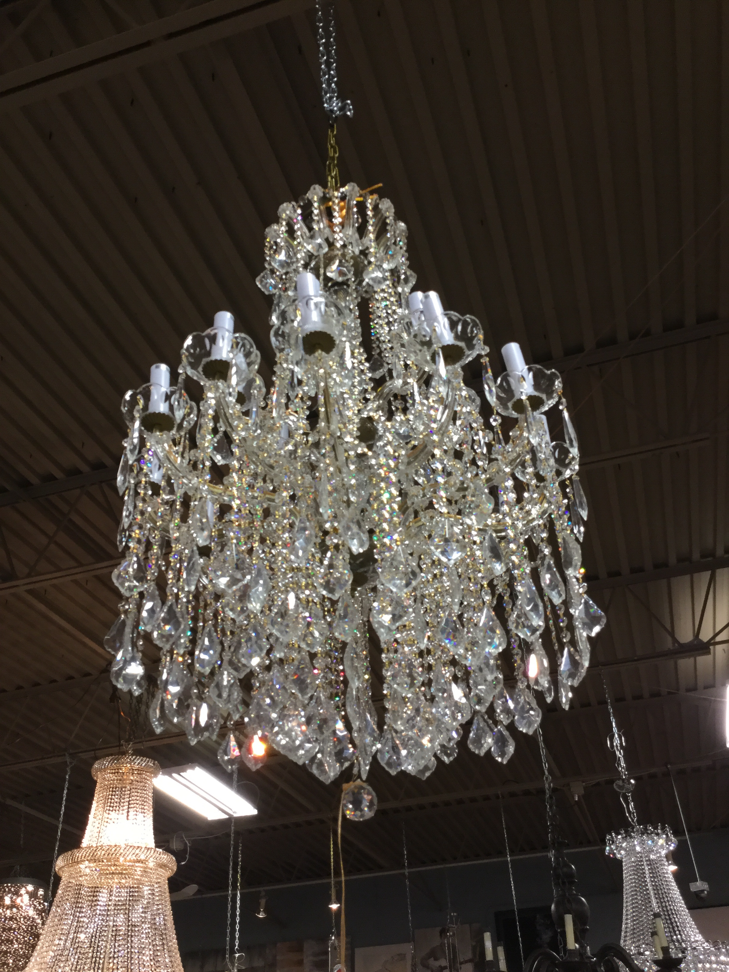 Gold and crystal marie antoinette chandelier consignment furniture gold and crystal marie antoinette chandelier92310ag aloadofball Image collections