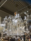 Marie Antoinette Crystal and Gold Tone 2 Tier 13 Lights Chandelier 32 H x 30 W