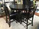 """Pub Table with 4 Chairs With Storage 60""""l x 42""""w x 36""""h"""