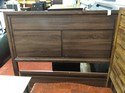 Queen Size Panel  Bed HB/FB Side Rails and Slats  w storage