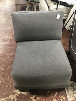 Rowe Gray Linen Slipper Chair