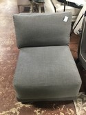 Rowe Gray Linen Slipper Chair