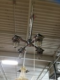 Steampunk style Chrome 4 Light Chandelier