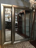 Uttermost Beveled Mirror in Painted Silver Frame - 62 x 84
