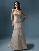 Alfred Angelo Style 801,beautiful lace gown with sash
