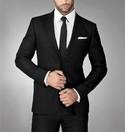 Solid Black Tie, for the groom or groomsmen, New in pkg