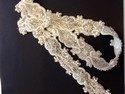 beautiful gown sash, one yard of applique