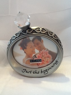 just the beginning engagement ring frame - Engagement Picture Frame
