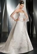 Demetrios ivory stapless ballgown
