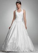 NEW Davids Bridal, embellished halter top with full skirt!