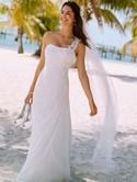 NEW Davids Bridal, one shoulder gown