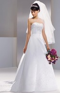 NEW, Michaelangelo white strapless gown