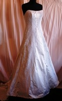 Marisa Baratelli Size 10 Ivory Bridal Gown