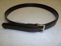 "Brown Velcro Latch Belt ""click for length"""