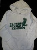 "EDISON White Hoodie ""click for size"""