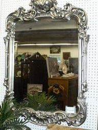 Large Silver Classic Mirror