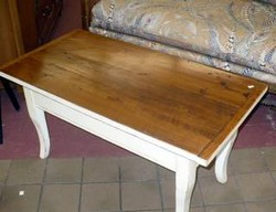 Primitive Wood Top Coffee Table