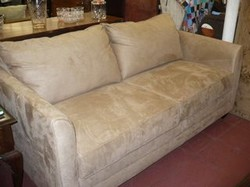 Small Pullout Beige Sofa