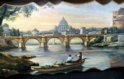 Wood Wall Art - Rome Scene