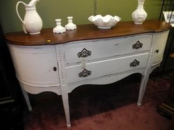 White Antique Mahogany Sideboard