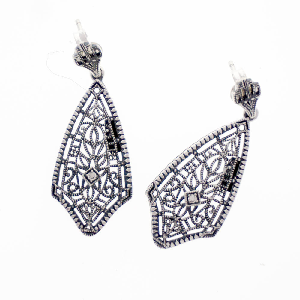 dangle swarovski crystal art earrings silver koplik anne ak products plated deco